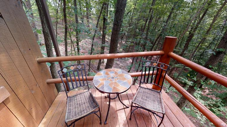 Hocking Hills Cabins Anniversary Deck