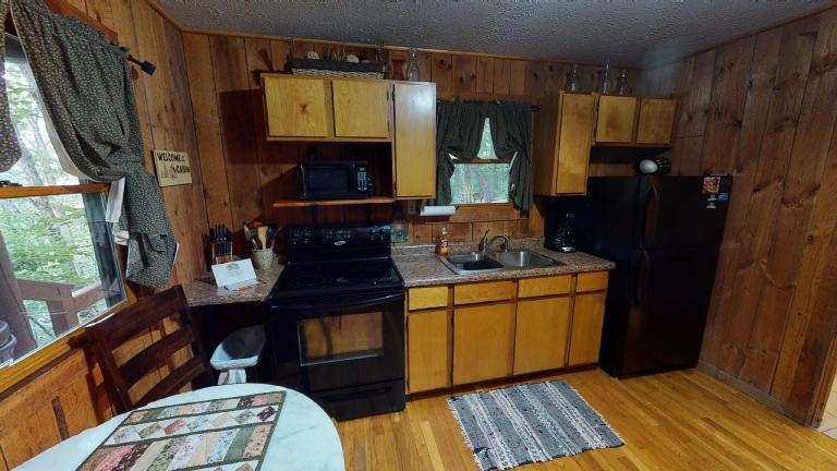 Hocking Hills Cabins Anniversary kitchen
