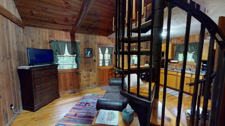 Hocking Hills Cabins Anniversary stairwell