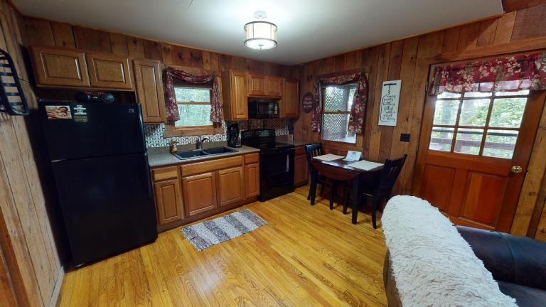 Hocking Hills Cabins Honeymoon kitchen view